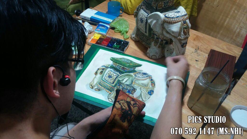 Học vẽ màu nước tại PICS Studio 3