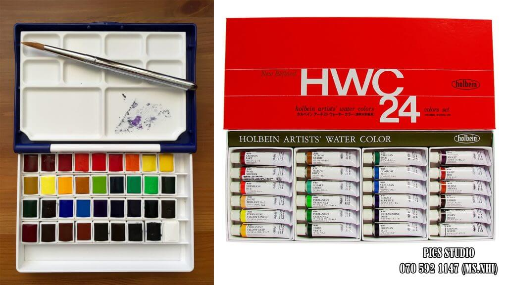 WATERCOLOR HOLBEIN TUBES AND PANS