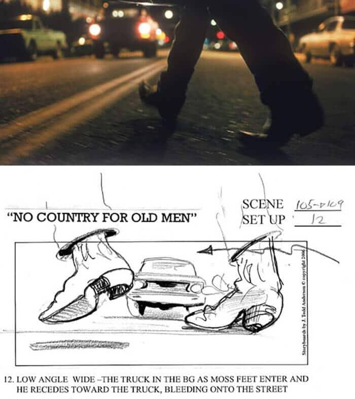 No Country For Old Men (2007) - 25 STORYBOARD PHIM NỔI TIẾNG
