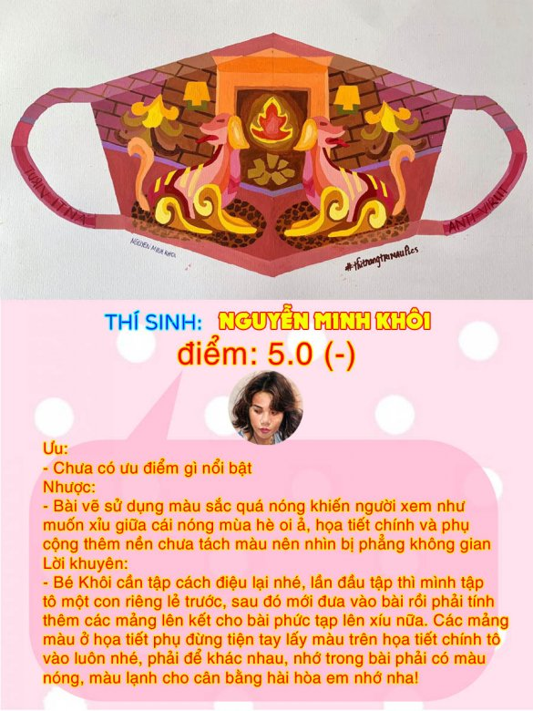 5.0(-) - NGUYỄN MINH KHÔI THI THỬ TRANG TRÍ MÀU ONLINE LẦN 3