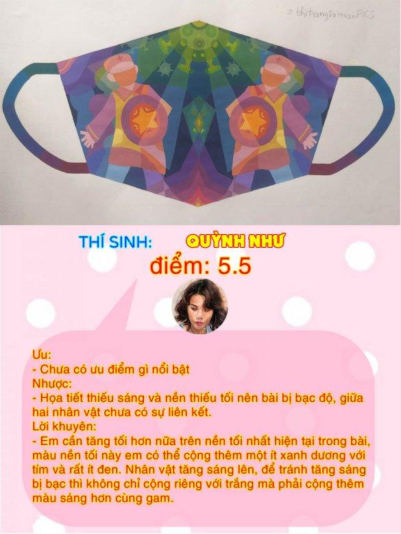 5.5 - QUỲNH NHƯ THI THỬ TRANG TRÍ MÀU ONLINE LẦN 3