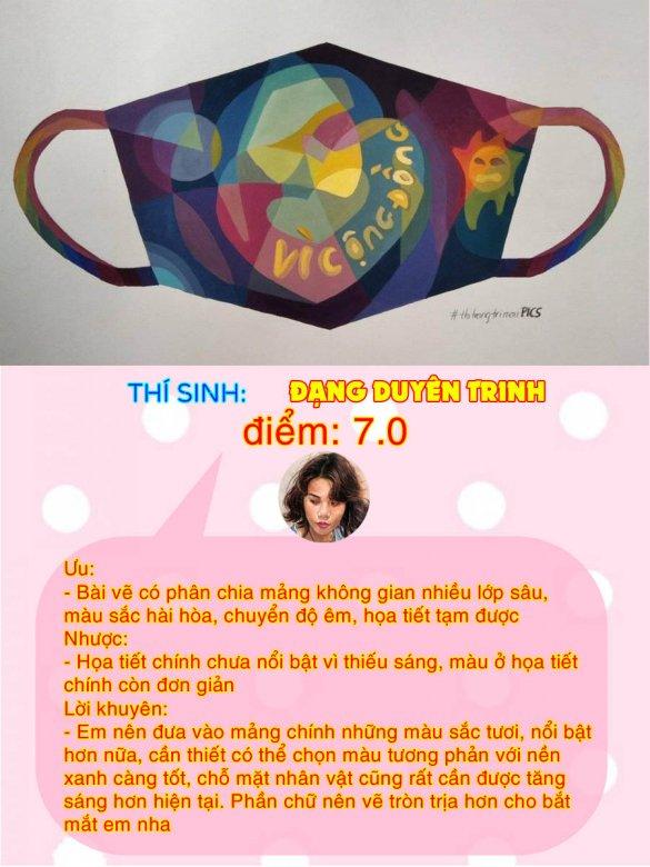 7.0 - ĐẶNG DUYÊN TRINH THI THỬ TRANG TRÍ MÀU ONLINE LẦN 3