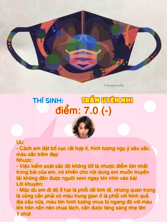 7.0(-) - TRẦN UYÊN NHI THI THỬ TRANG TRÍ MÀU ONLINE LẦN 3
