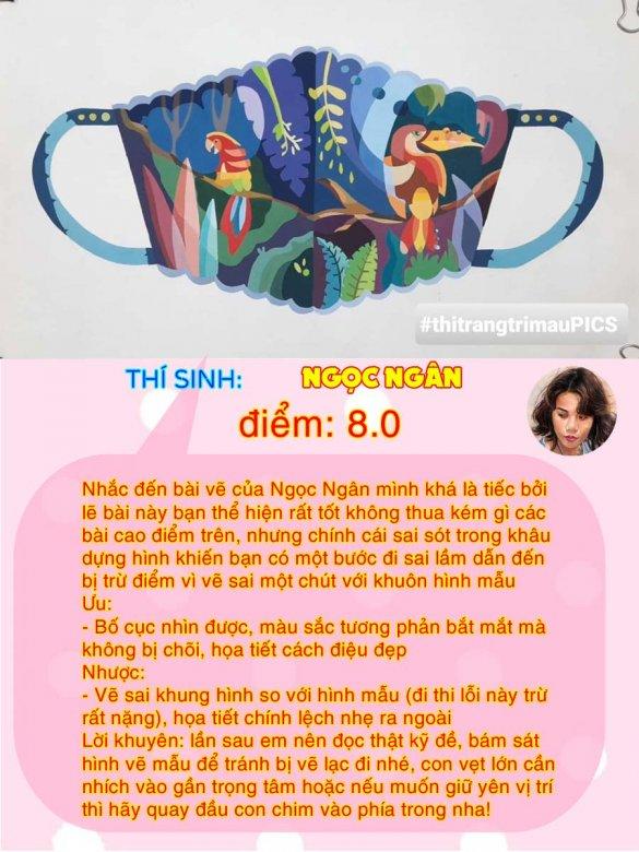 8.0 - NGỌC NGÂN THI THỬ TRANG TRÍ MÀU ONLINE LẦN 3