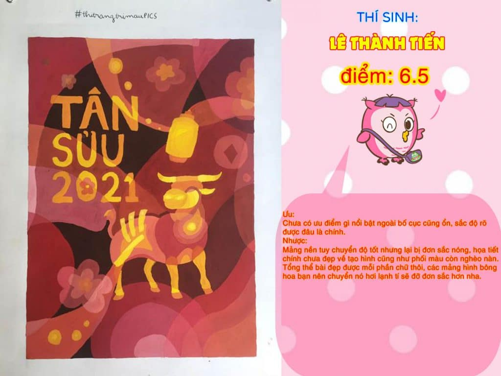 6.5 LÊ THÀNH TIẾN THI THỬ TRANG TRÍ MÀU ONLINE 2021 PICS STUDIO
