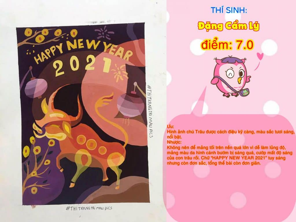 7.0 ĐẶNG CẨM LÝ THI THỬ TRANG TRÍ MÀU ONLINE 2021 PICS STUDIO
