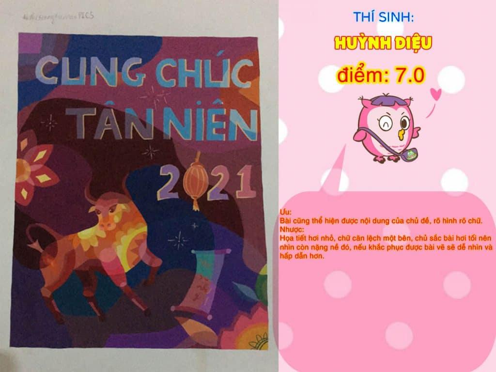 7.0 HUỲNH DIỆU THI THỬ TRANG TRÍ MÀU ONLINE 2021 PICS STUDIO
