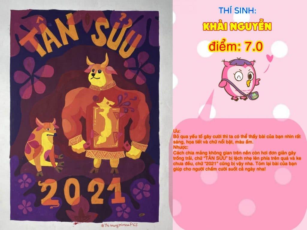 7.0 KHẢI NGUYỄN THI THỬ TRANG TRÍ MÀU ONLINE 2021 PICS STUDIO