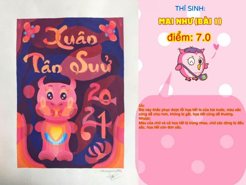 7.0 MAI NHƯ (BÀI 1) THI THỬ TRANG TRÍ MÀU ONLINE 2021 PICS STUDIO