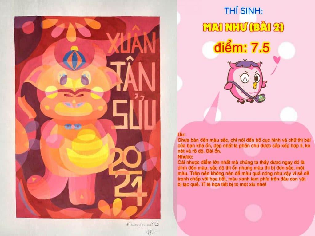 7.5 MAI NHƯ (BÀI 2) THI THỬ TRANG TRÍ MÀU ONLINE 2021 PICS STUDIO