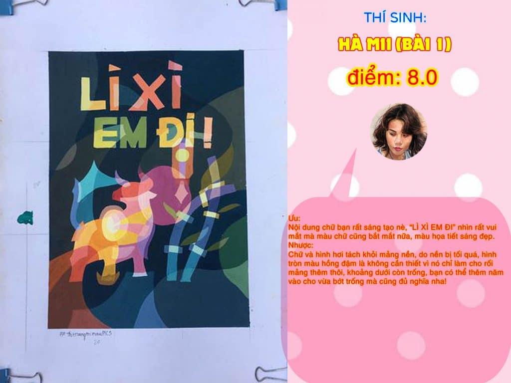 8.0 HÀ MII (BÀI 1) THI THỬ TRANG TRÍ MÀU ONLINE 2021 PICS STUDIO