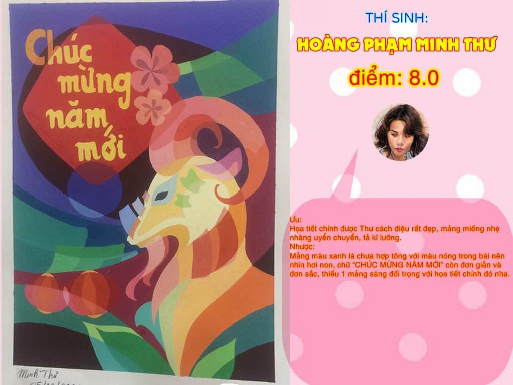 8.0 HOÀNG PHẠM MINH THƯ THI THỬ TRANG TRÍ MÀU ONLINE 2021 PICS STUDIO