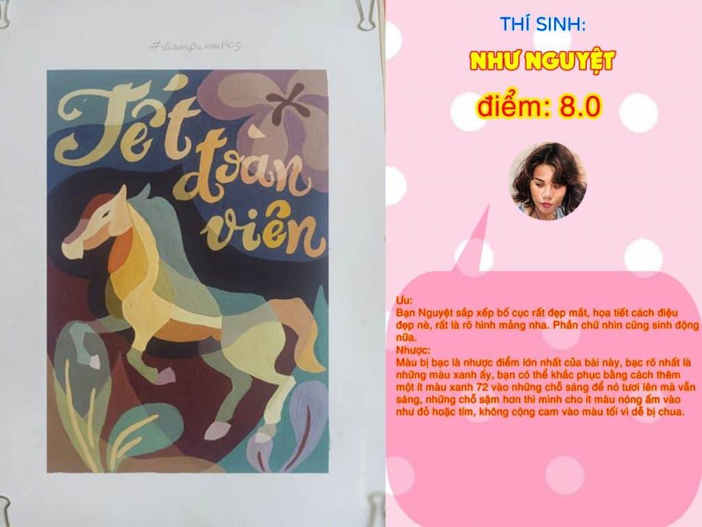 8.0 NHƯ NGUYỆT THI THỬ TRANG TRÍ MÀU ONLINE 2021 PICS STUDIO