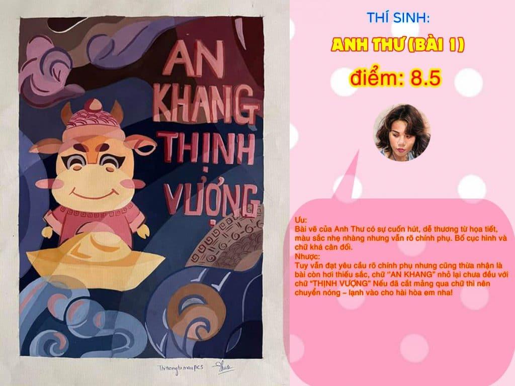 8.5 ANH THƯ (BÀI 1) THI THỬ TRANG TRÍ MÀU ONLINE 2021 PICS STUDIO