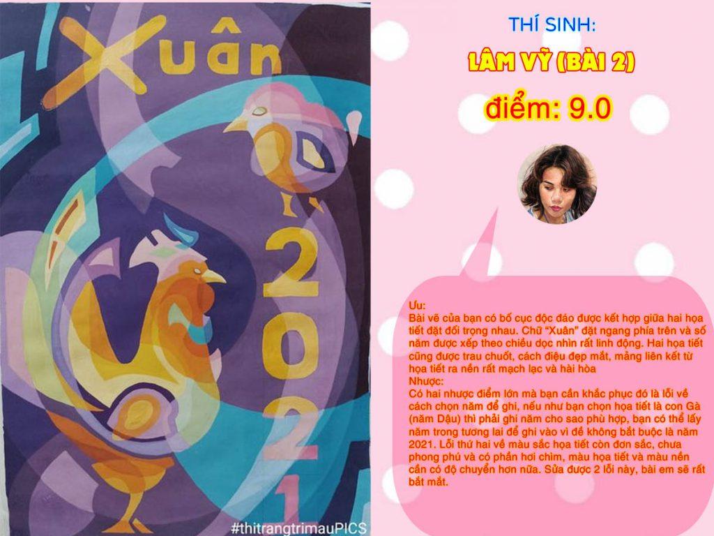 9.0 LÂM VỸ (BÀI 2) THI THỬ TRANG TRÍ MÀU ONLINE 2021 PICS STUDIO