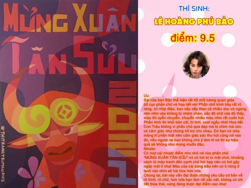 9.5 LÊ HOÀNG PHÚ BẢO THI THỬ TRANG TRÍ MÀU ONLINE 2021 PICS STUDIO