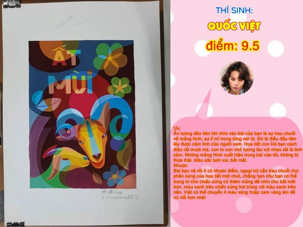 9.5 QUỐC VIỆT THI THỬ TRANG TRÍ MÀU ONLINE 2021 PICS STUDIO
