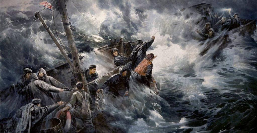 """Tranh """"Những người dũng cảm ở Gajin"""""""