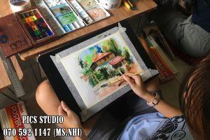 Học vẽ màu nước tại PICS Studio 1