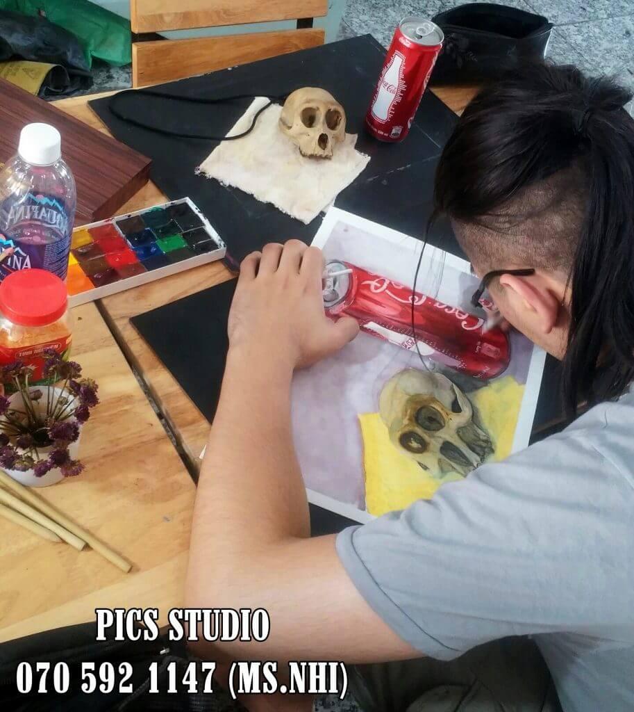 Học vẽ màu nước tại PICS Studio 4