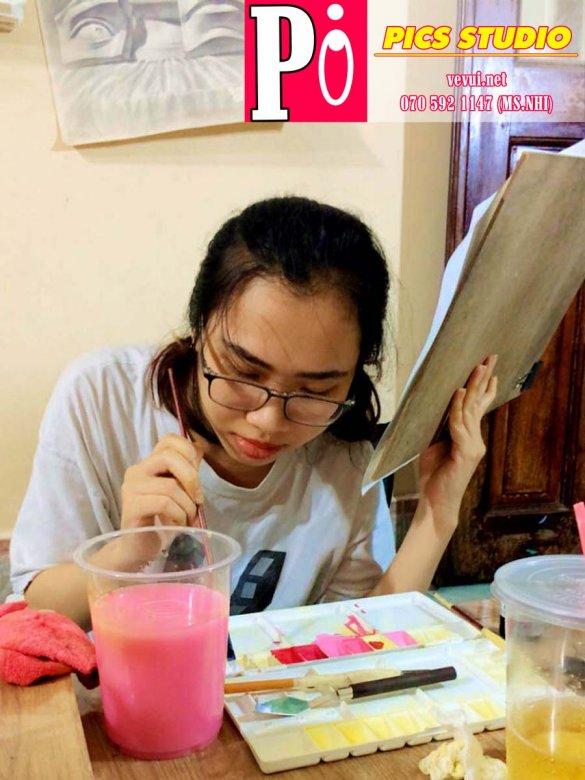 học viên quỳnh như trang trí màu thiên nữ băng nhi (2)