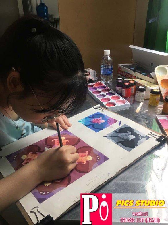 học viên thanh uyên trang trí màu thiên nữ băng nhi (2)
