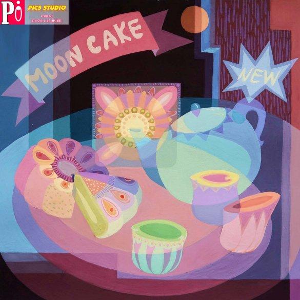 tranh trang trí hộp bánh thiên nữ băng nhi