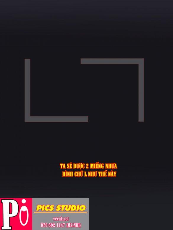 CẮT HỘP NHỰA PVC - HƯỚNG DẪN CANH BỐ CỤC CHUẨN VẼ TƯỢNG - PICS STUDIO