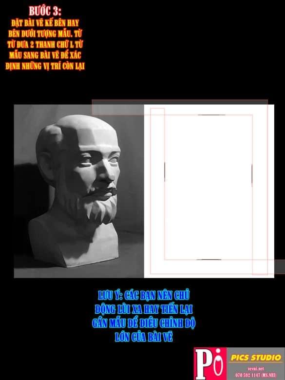 MẪU TƯỢNG 3 - HƯỚNG DẪN CANH BỐ CỤC CHUẨN VẼ TƯỢNG - PICS STUDIO