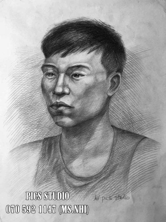 VẼ CHÂN DUNG NAM THANH NIÊN PICS STUDIO (4)