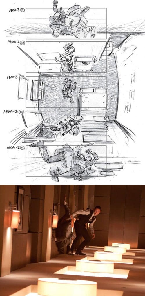 Inception (2010) - 25 STORYBOARD PHIM NỔI TIẾNG
