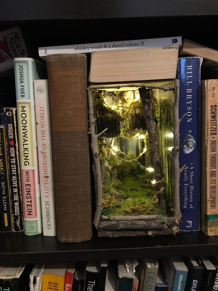 #7 Made My First Booknook! A Double Wide Endor Inspired Wilderness Piece